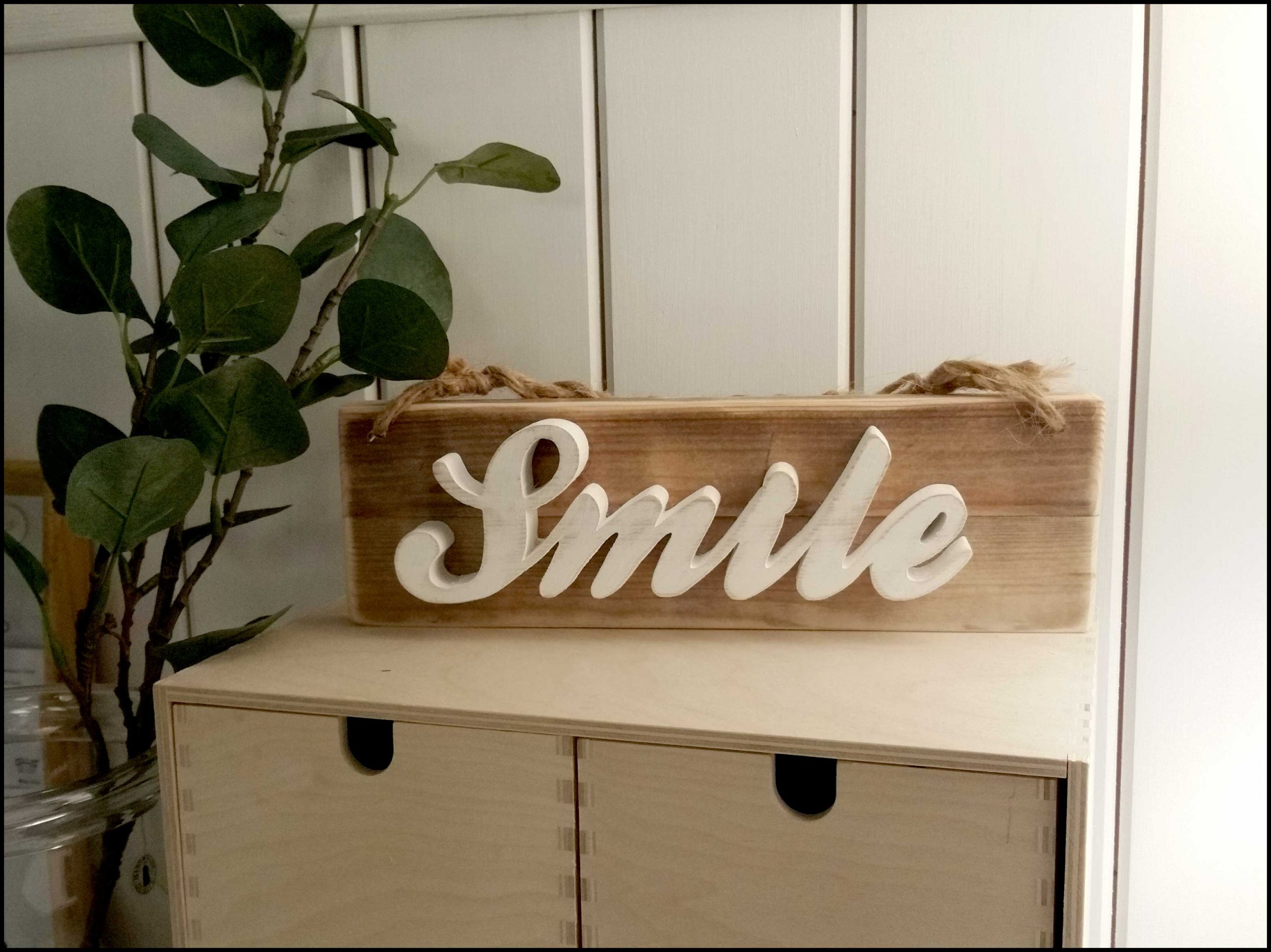Smile wall hanging sign Image