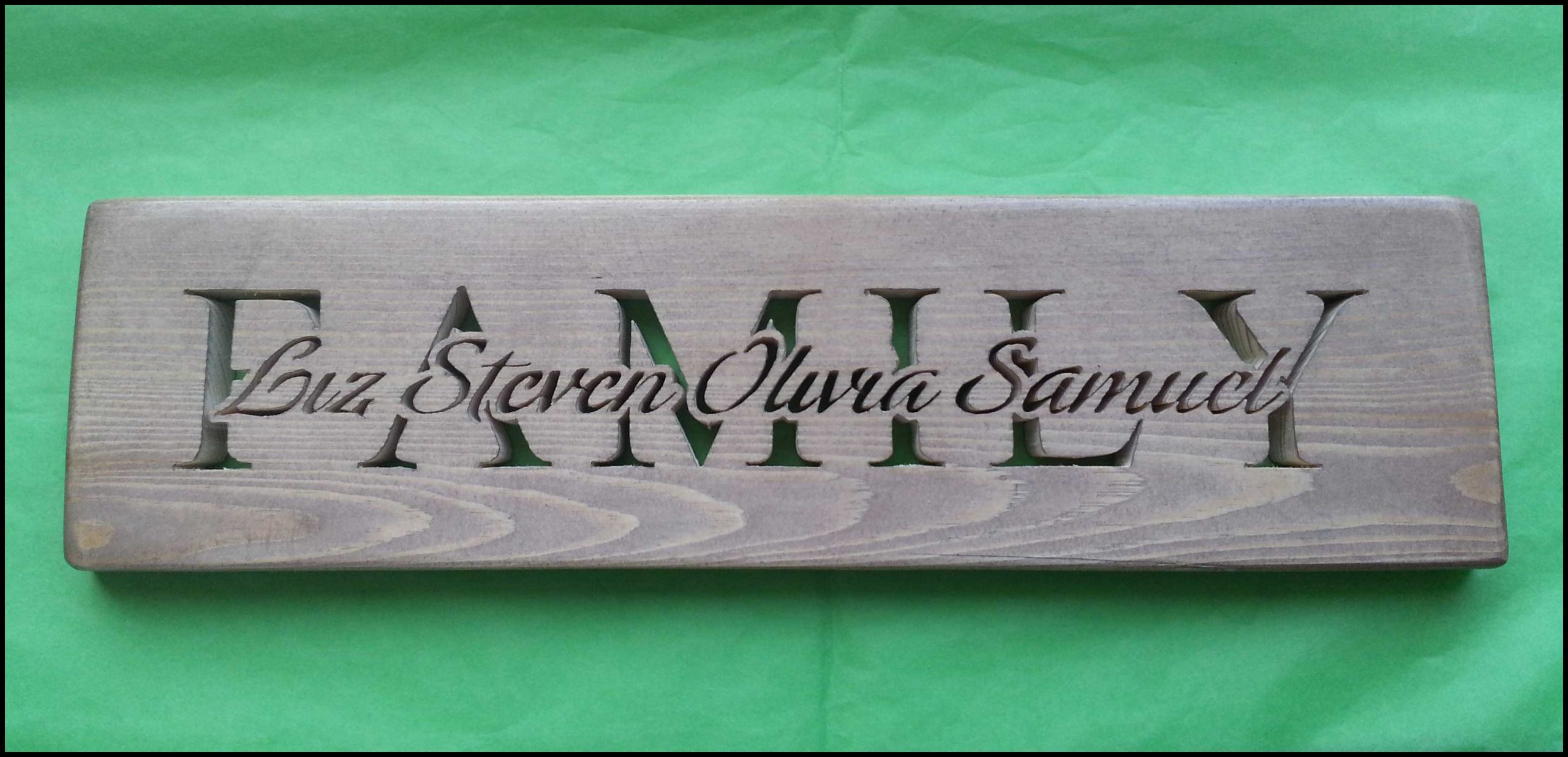 family word plaque Image