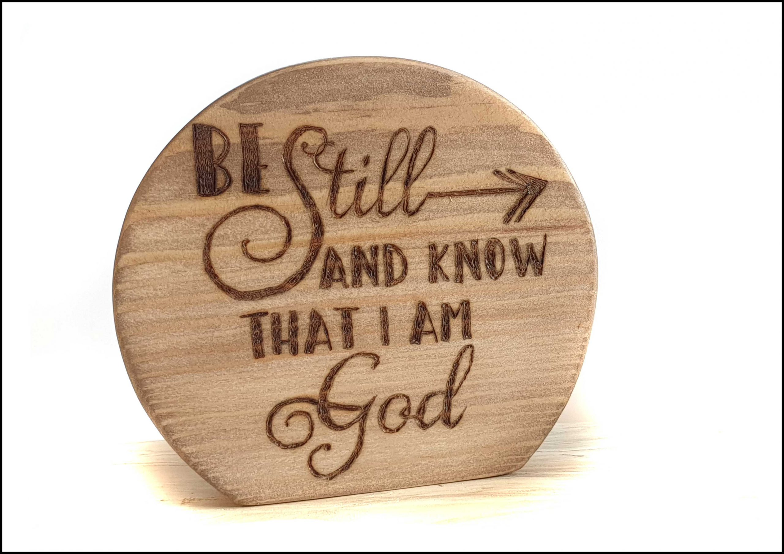 Be still and know plaque Image